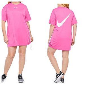 Nike Short Sleeve T Shirt Dress Plus 1X